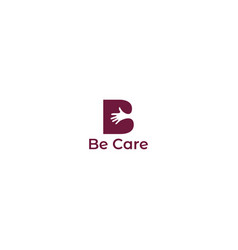 B care logo design vector