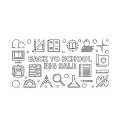 back to school big sale concept outline vector image