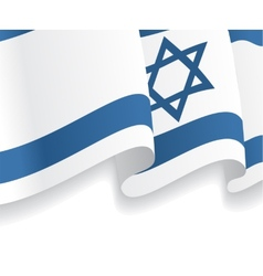 Background with waving Israeli Flag vector image