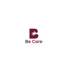 be care logo design vector image