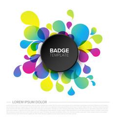 black badge tag template vector image