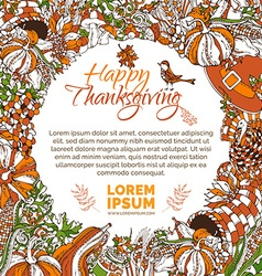 Bright Thanksgiving background vector