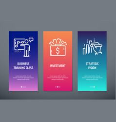 Business training class investment strategic vector