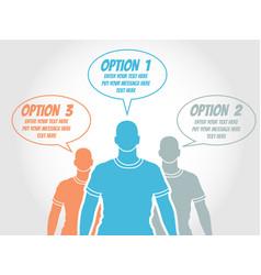 businessman option template step ranking orange 2 vector image