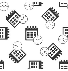 calendar and clock icon seamless pattern vector image