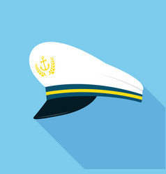 captain hat with anchor emblem vector image
