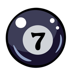 Cartoon image of pool ball icon billiard symbol vector