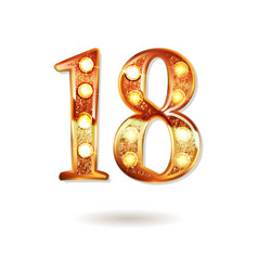 Celebrating of 18 years anniversary vector