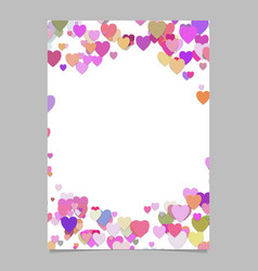 Chaotic heart page template design - valentines vector