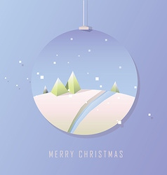 Christmas design in baubles vector