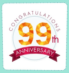 colorful polygonal anniversary logo 3 099 vector image