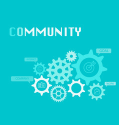 community graphic for business concept vector image