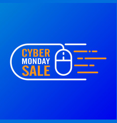 cyber monday sale design concept modern trend vector image