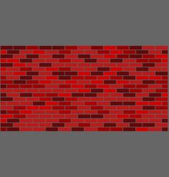 dark red brown brick wall texture vector image