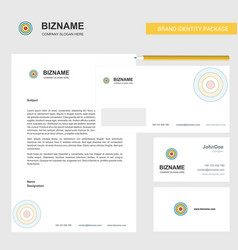 dart business letterhead envelope and visiting vector image