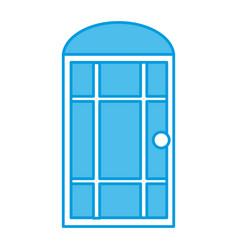 door window house isolated vector image