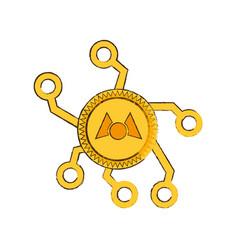 drawing mastercoin web icon vector image