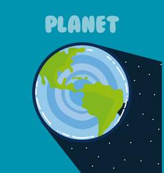 Earth milkyway planet vector