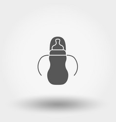 feeding bottle icon silhouette flat vector image