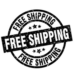 Free shipping round grunge black stamp vector
