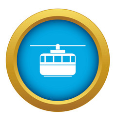 Funicular icon blue isolated vector