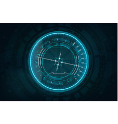 Futuristic gadget in hud style vector