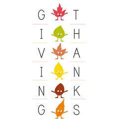 Giving thanks vector