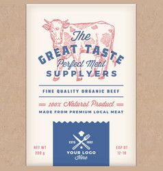 Great taste perfect beef abstract meat vector