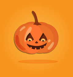 halloween cartoon art in flat style orange vector image