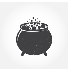 Halloween cauldron icon vector