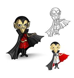 Halloween isolated spooky vampires set vector