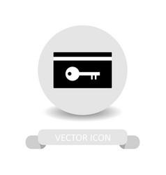 hotel key icon vector image