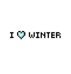 i love winter pixel bubble speech isolated vector image