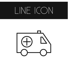 isolated ambulance outline emergency vector image