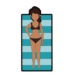 Isolated cute bronzing women vector