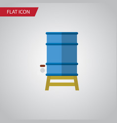 Isolated water tank flat icon container vector