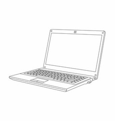 laptop line style design vector image