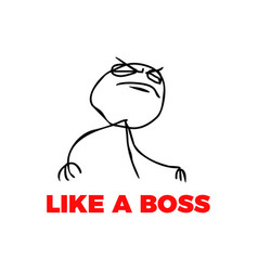 like a boss meme vector image