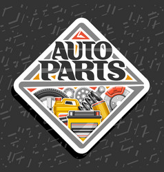 Logo for auto parts store vector