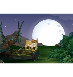 Lynx and forest vector