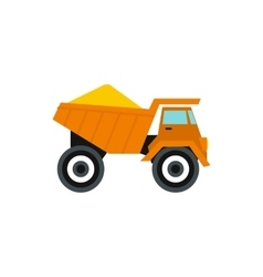 Machinery with sand icon flat style vector image
