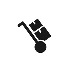 mass production trolley icon - simple element vector image