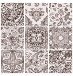 Mehendy pattern vector image