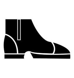 Men boots icon simple style vector image