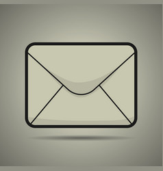 message icon black and white vector image