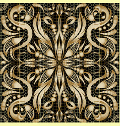 Modern gold paisley seamless pattern vector