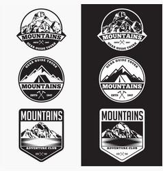 Mountains logo badge 4 vector