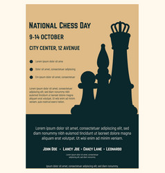 national chess day poster vector image