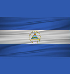 nicaragua flag flag of nicaragua blowig in the vector image