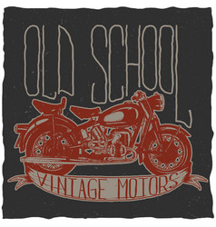 old school vintage motors poster vector image